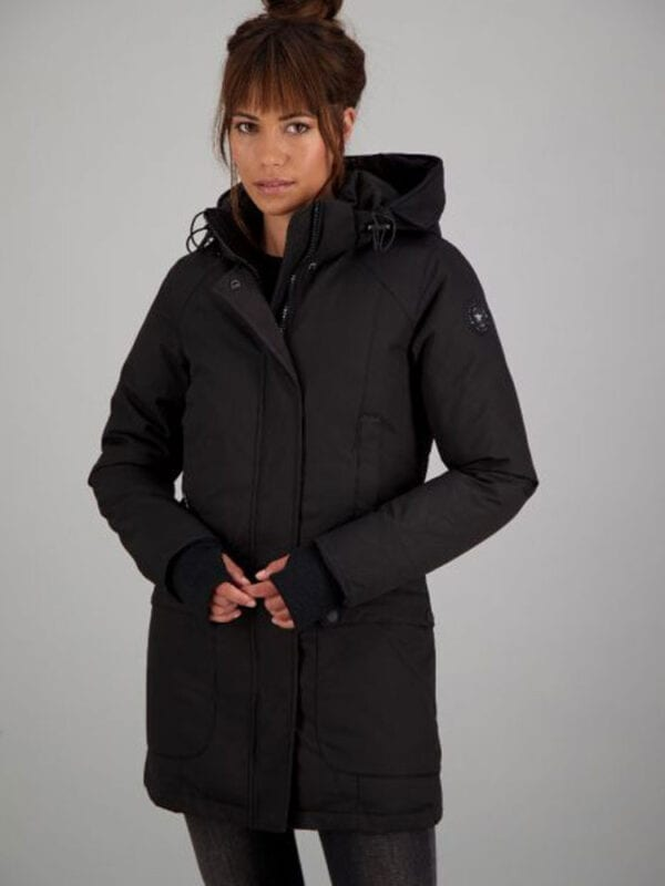 Airforce Dames Slimfit Parka True Black