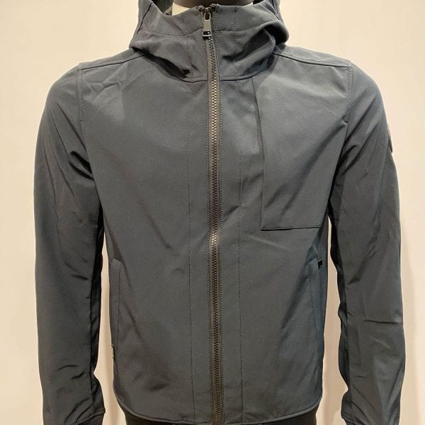 Airforce Heren Softshell Jacket Chestpocket Dark Navy Blue
