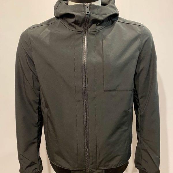 Airforce Heren Softshell Jacket Chestpocket True Black