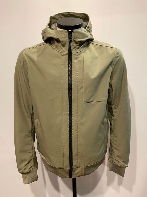 Airforce Heren Softshell Jacket Chestpocket Silver Sage