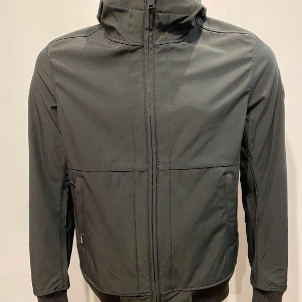 Airforce Heren Softshell Jacket Webbing True Black