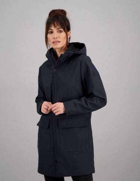 Airforce Dames Long Softshell Jacket True Black