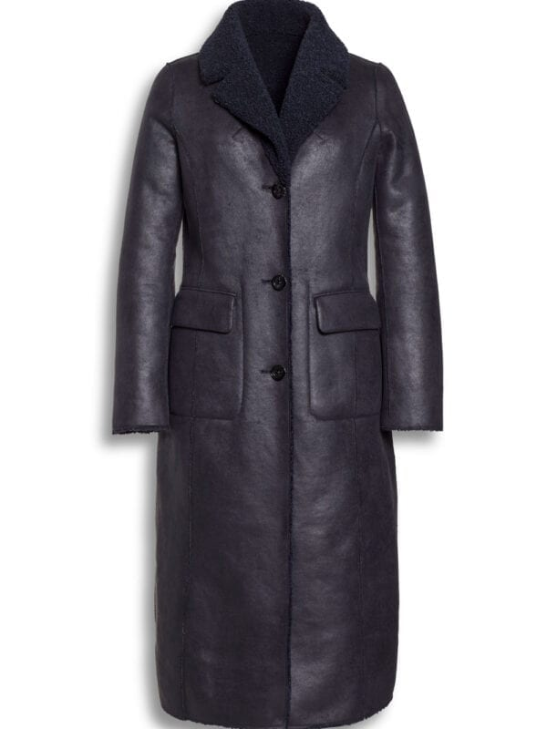 Beaumont Dames Reversible Lammy Coat Night Blue