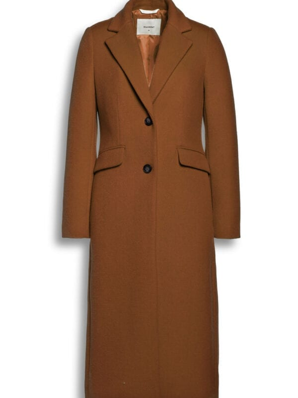Beaumont Dames Wool Blend Blazercoat Dark Camel