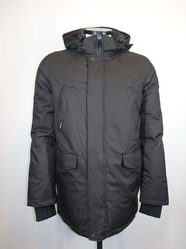 Airforce Heren Slimfit Parka True Black