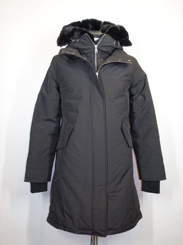 Airforce Dames Double Zip Fishtail Parka True Black