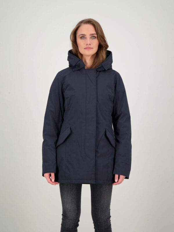 Airforce Dames 2 Pocket Deluxe Parka Technical Soft-shell Dark Navy Blue