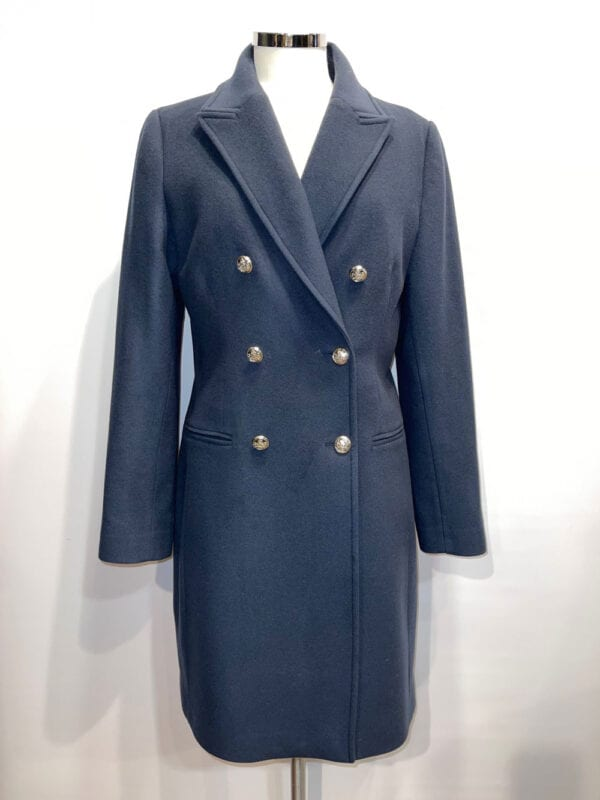 HV Society Dames Woolen Coat Navy